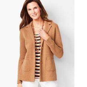 NWT Talbots sweater blazer - large
